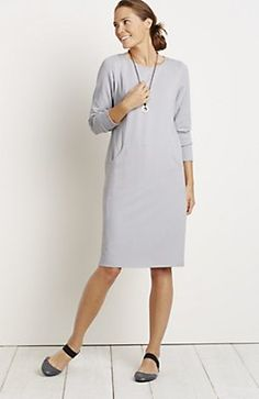 New J Jill Amethyst Long Sleeve Color Washed Pocket Dress All Sizes