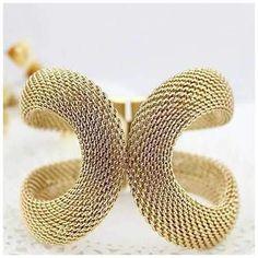 Glamsham - The Vintage Infinity Loop Mesh Bracelet - Jewelry