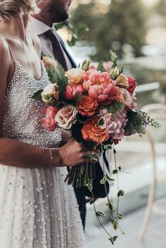 On Your Wedding Day, Perfect Wedding, Hollywood Glamour Wedding, Wedding Gowns, Wedding Flowers, Bright Dress, Beautiful Bride, Color Combos, Bloom