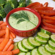 This zesty bean dip is made with cannellini beans, plain nonfat Greek yogurt, fresh dill, and lemon juice. Served with low-calorie veggies, this appetizer is healthy and takes minutes to whip up.