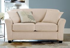 At last, the custom upholstered look you have been waiting for in sleek, smooth suede. A #slipcover with  Individual Seat Cushions!