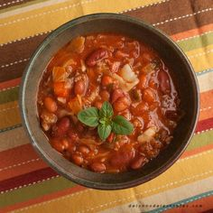 Uncle Edwin's Minestrone Soup www.delynnsdelectables.com