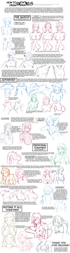 A helpful fuck-ton of boob references. Note that since this contains long images that are currently fuzzy (because tumblr just doesn't want to display 'em clearly), you gotta reverse-image search 'em in google. Just because it's a little extra work doesn't mean you oughtn't do it; the large image on the right is totally worth the effort for female anatomy, and the one of the left is also helpful with bra things. They're all quite helpful. [From various sources]