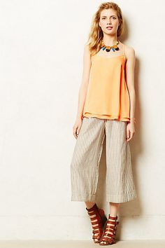 Railroad Stripe Crops - anthropologie.com