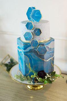 Geode Style Cake
