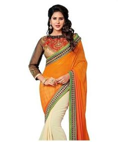 Online Shopping India: Latest Trends in Fashion Clothing Two Piece Long Dress, Georgette Sarees, Shoe Brands, Latest Fashion Trends, Sari, India, Fashion Outfits, Blouse, Amazing