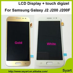 616.00$  Know more - http://ai5xy.worlditems.win/all/product.php?id=32683518607 - 10pcs/lot Free via fast DHL shipping Gold white For Samsung Galaxy J2 J200F J200Y lcd display+Touch Screen +Digitizer Assembly