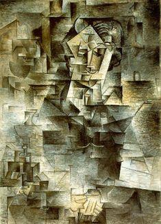Pablo Picasso Cubism   Pablo Picasso – Portrait of Daniel-Henry Kahnweiler 1910, Oil on ...