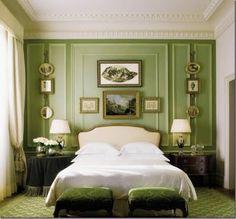 Stunning green bedroom