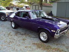 Purple 72' Chevy Nova