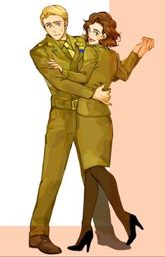 This is my favorite fan art of them because I love the style, the uniforms, and Steve looks so nervous!
