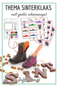 Heb jij het gratis schoenenspel al gedownload? Met het observeerblad kunnen de kinderen hun schoenen goed bekijken. Hebben ze veters of ritsen? Zijn ze hoog of laag? Hoe groot zijn ze eigenlijk? Met de losse kaartjes kun je allerlei leuke spellen spelen. De suggesties staan er bij, dus download het pakket hier!