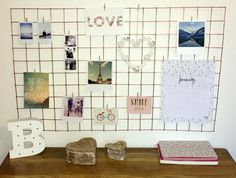 DIY Wire Notice Board