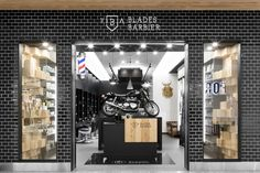 The concept of mixing old-school and new-school is translated by the experience offered. The authentic chairs and traditional barber pole are enhanced by a rich, unique and modern setting. from Ret…