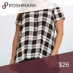 Torrid plaid high low blouse Nwt torrid Tops Blouses