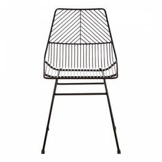 This leaf-shaped chair features an elliptical outer blade within which a series of veins are dissected by the central stipule. These combine to produce a large seating area and backrest that create a relaxed seating position. Wire Dining Chairs, Oak Dining Table, Extendable Dining Table, Dining Room, Art Deco Bar, Wire Chair, Home Decor Store, Black Metal, Design