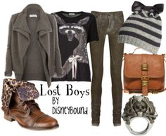 By DisneyBound @Andrea / FICTILIS Errotabere Let's be lost boys more often, they have cute clothes.