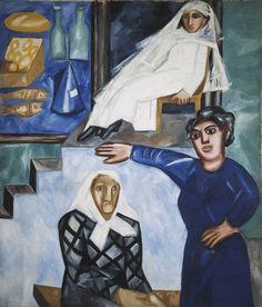 Гончарова. Еврейки на крыльце. 1912
