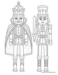 Nutcracker Christmas Coloring Page Pages Winter Blank Easter
