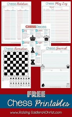 FREE Chess Printables | Homeschool Giveaways