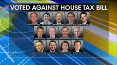 Republicans who voted against House tax bill.