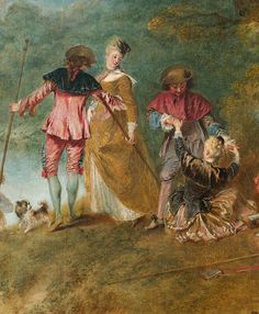 Detail of Pilgrimage on the Isle of Cythera by Jean-Antoine Watteau from Musée du Louvre, Paris, France Rococo, Jean Antoine Watteau, Paris Pictures, Desert Island, Great Paintings, Louvre, Art Moderne, Western Art, French Artists