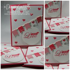 """Banner Blast & Banner Punch Both FREE for Sale-a-Bration 2014 . Greeting is from the stamp set Follow my Heart which is punched out with the 2 1/2"""" circle punch"""