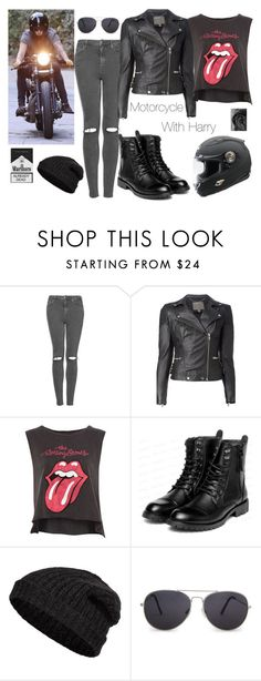"""Motorcycle With Harry Styles"" by boiteasecrets ❤ liked on Polyvore featuring Topshop, MuuBaa, Pull&Bear, yeswalker, Closed and MANGO"