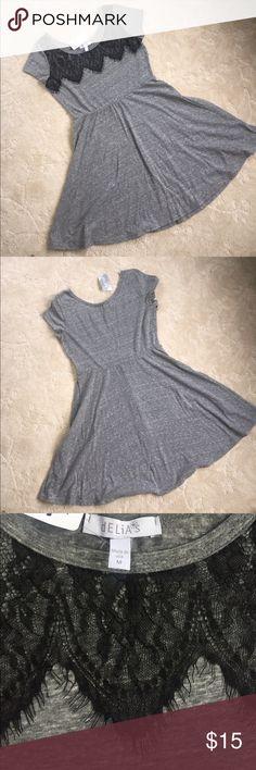 NWT lace top Delia's cotton T-shirt dress Never worn NWT Delia's lace top dress ✨ Made of comfy T-shirt like material. Dresses