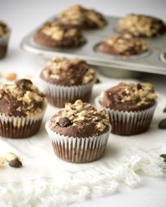 chocolate pb banana bread muffins