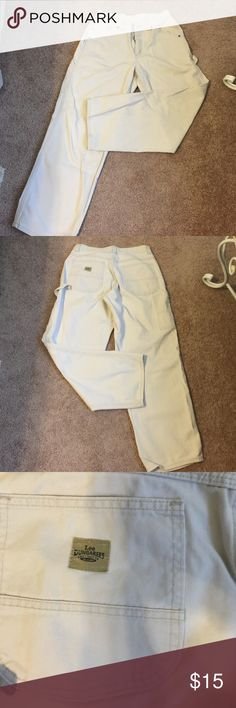 """Lee Dungarees Carpenter Pants Light tan carpenter jeans . Perfect condition. 29"""" inseam . Lee Jeans Relaxed"""
