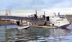 A rare colour image of the Short S.23 Empire (or: 'C-') Class flying boat…