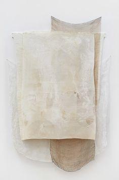 Martha Tuttle. Scroll (1), Wool, silk, paper, pigment, walnut, nails, bronze, steel, 67 x 43 inches