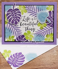 Fun color combination for the Tropical Chic stamp se