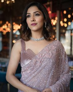 Neeti Mohan of Neeyum Naanum Fame and her Photoshoot with Her Bride-tribe! Latest Saree Blouse, Saree Blouse Neck Designs, Blouse Patterns, Indian Fashion Dresses, Indian Designer Outfits, Asian Fashion, Women's Fashion, Fashion Trends, Saree Designs Party Wear