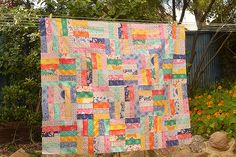Jelly Roll Jam quilt using a Jelly Roll of Kate Spain's upcoming collection, Daydreams.