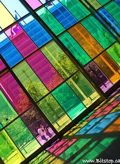 colourful glass building...colour therapy at its best!