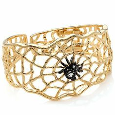 topaz-and-zircon-web-and-spider-bracelet_oomphelicious.wordpress.com -- INSECT INSPIRED JEWELRY