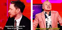 When he lowered the tone of The Graham Norton Show within the first second (a new record).
