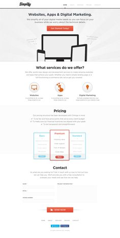 Web design for Simplify by CrazyPainter #POTD99 05.27.2013 #sleek #whitespace