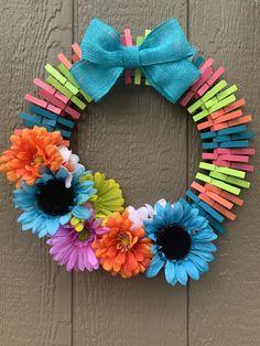 Wreath Crafts, Diy Wreath, Wreath Ideas, Wreath Making, Tree Crafts, Door Wreaths, Weekend Crafts, Summer Crafts, Fun Crafts