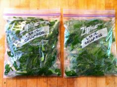 Preserving Your Garden Harvest -- How To Freeze Mustard Greens, Collards, Swiss Chard, Kale or Turnip Greens
