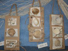 Vzpomínka na moře - koláž na kartonu