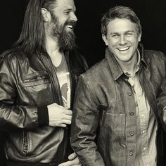 Ryan Hurst & Charlie Hunnam. #SOA #obsession- for those in doubt that the man is handsome, that is Charlie on the right