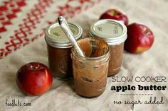 Slow Cooker Apple Butter (No Sugar Added) Print Author: Charity Serves: 5 cups Ingredients 5 pounds apples (my favorites: macintosh, golden delicious, braeburn, even granny smith will work) ½ cup pure apple cider 3 tablespoons cinnamon 1 teaspoon ginger ½ teaspoon ground cloves ½ teaspoon freshly ground nutmeg ½ teaspoon salt (optional) 1 teaspoon apple cider vinegar OR the juice of ½ lemon Instructions Core all apples but don't peel. Put apples plus all other ingredients into a slow cooker…