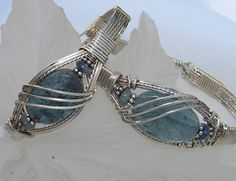 Sculpted Windows Jewelry Journal: Wire Wrapped Ice...Cool Kyanite Bracelets!