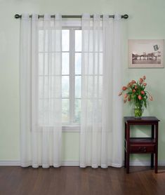 """CURTAIN FRESH Sheer Curtains for Bedroom - Arm and Hammer 59"""" x 63"""" Light Filtering Single Panel Grommet Top Window Treatment for Living Room, White"""