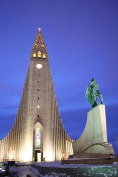 Hallgrímskirkja, is a Lutheran (Church of Iceland) parish church in Reykjavík, Iceland. At 73 metres (244 ft), it is the largest church in Iceland and the sixth tallest architectural structure in Iceland after Longwave radio mast Hellissandur, the radio masts of the US Navy at Grindavík, Eiðar longwave transmitter and Smáratorg tower. The church is named after the Icelandic poet and clergyman Hallgrímur Pétursson (1614 to 1674), author of the Passion Hymns.[