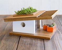 Midcentury modern-inspired birdhouses by Sourgrassbuilt
