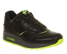 d24d58a649a7 Nike Air Max 1 (l) Cut Out Black Volt - Hers trainers Air Max